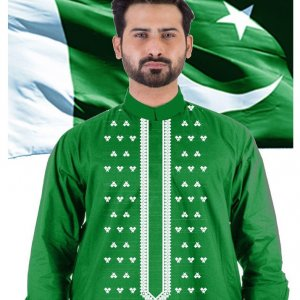 14 august Special embroidered cotton kurta for men