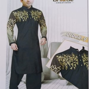 Cotton chest embroidery kurta for men unstitched