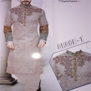 cotton embroidery kurta for men in pakistan (unique creations) unstitched