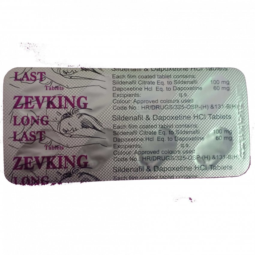 ZEVKING LONG LAST DAPOXETINE 60MG TABLETS