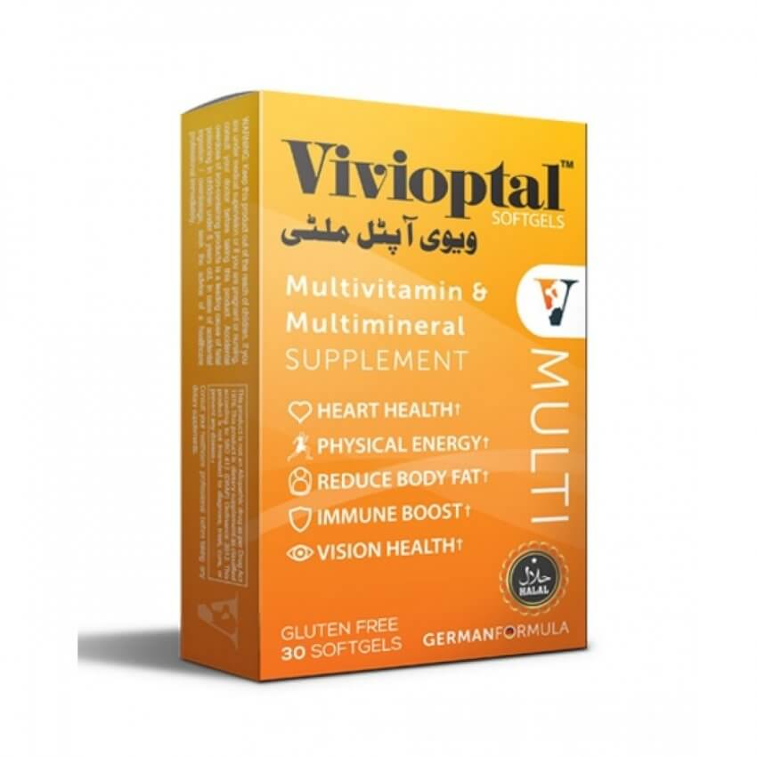 •Vivioptal Multi Local cash on delivery To maintain good heart health •To support good eye health •In energy metabolism and well being • keep skin healthy •To maintain a healthy active mind